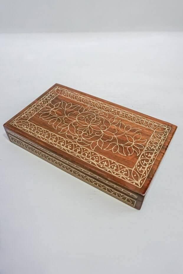"Mughal Florid Trinket Box  (7"" x 4"" x 1"")"