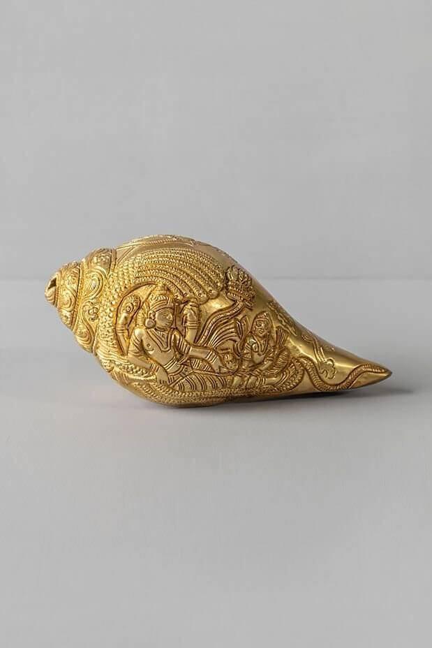 Vishnu Lakshmi Decorative Brass Conch