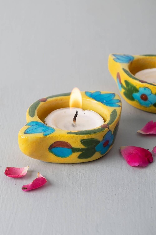 Rangeela Multicoloured Tealights (Set of 2)