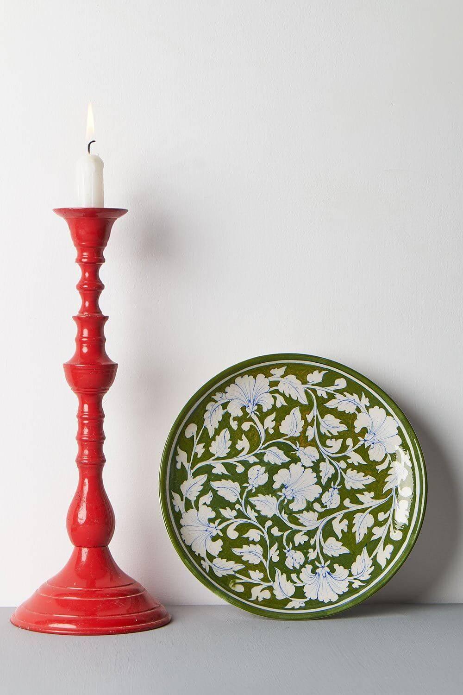 "Vintage Floral Plate (10"")"