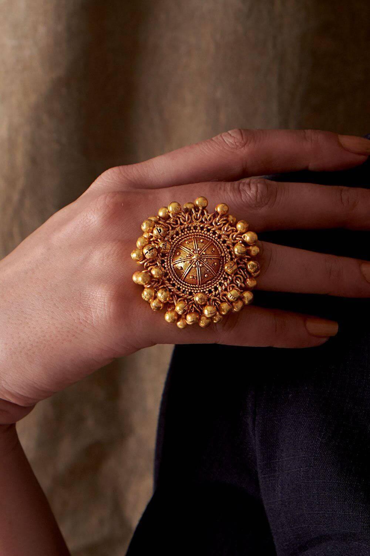 Brass Ghunghroo Ring