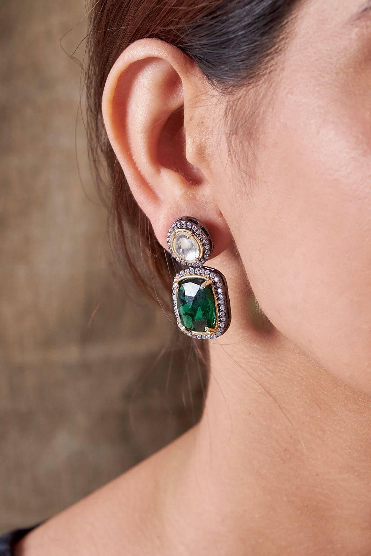 Alpana Emerald Earrings