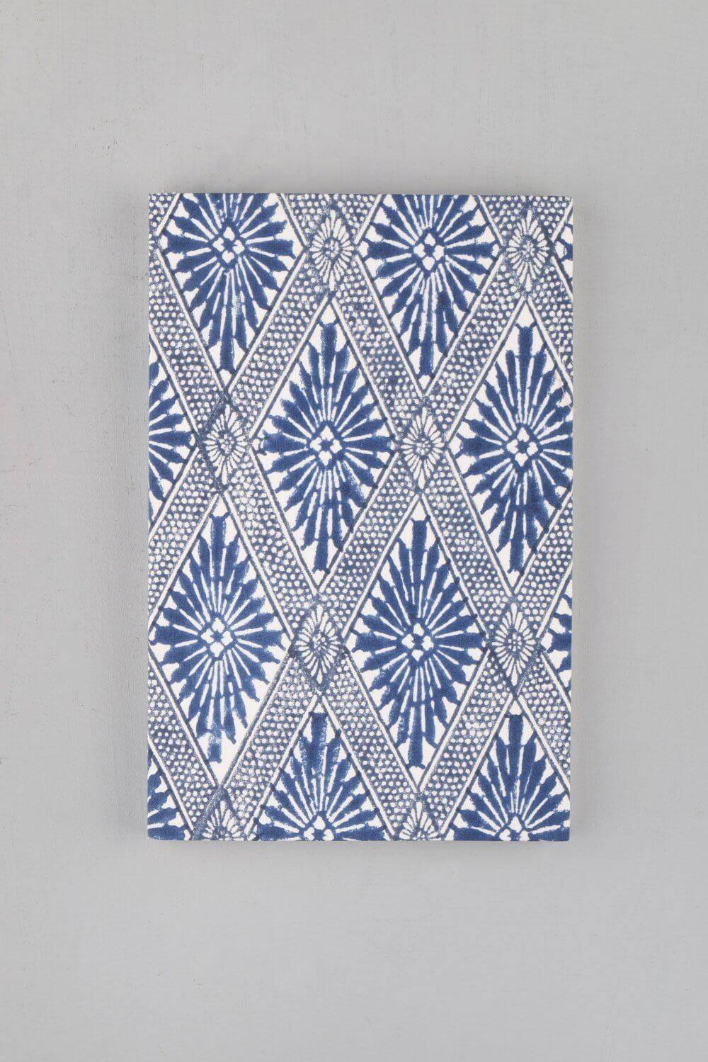 Indigo Block Printed Notebook