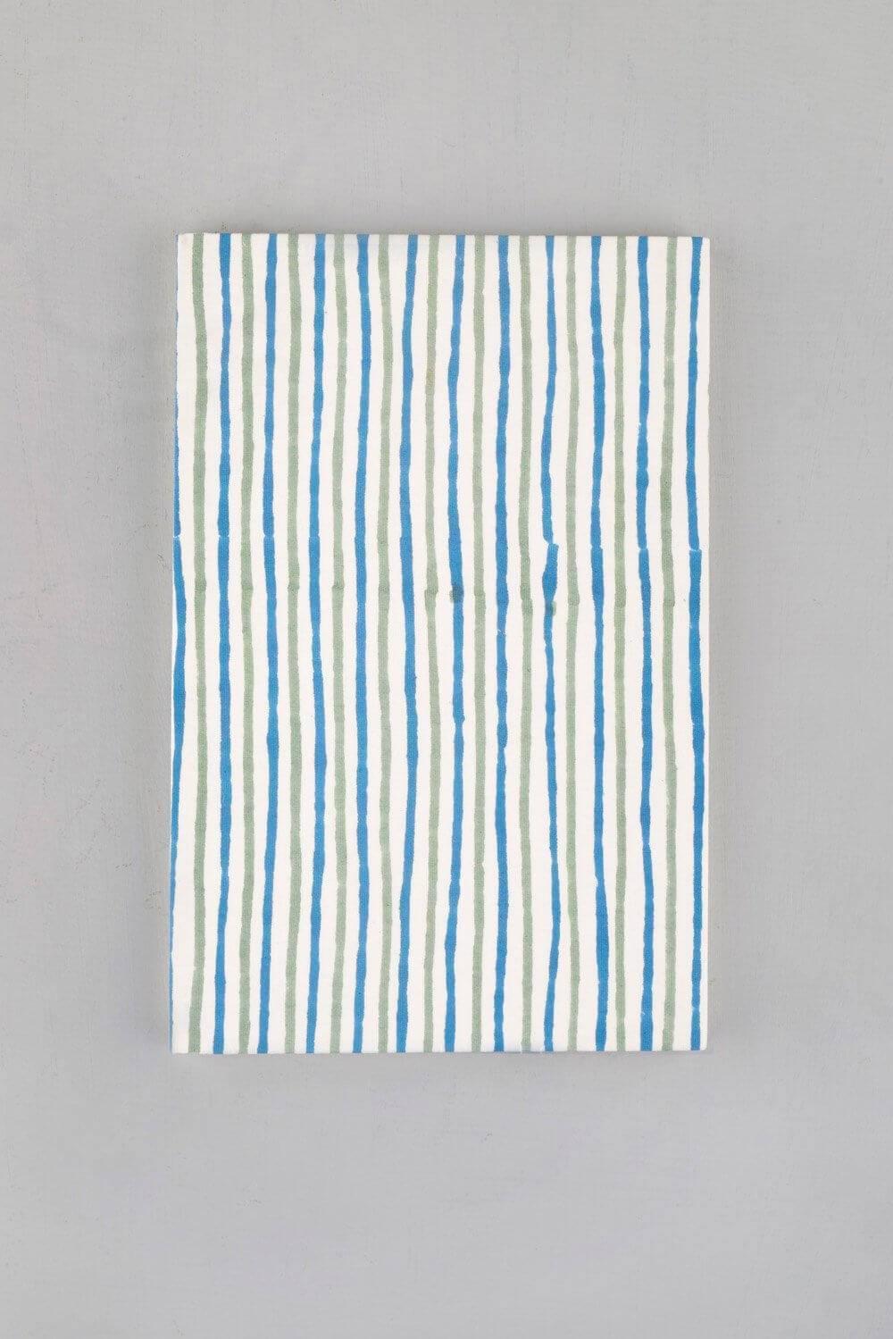 Striped Block Printed Notebook