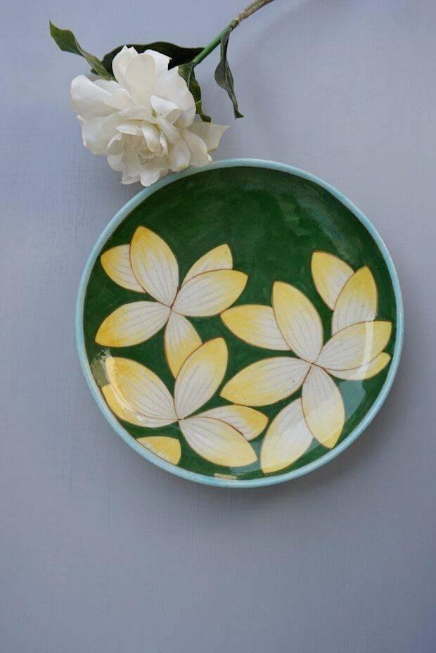 "Sunfire Waterlily Plate (8"")"