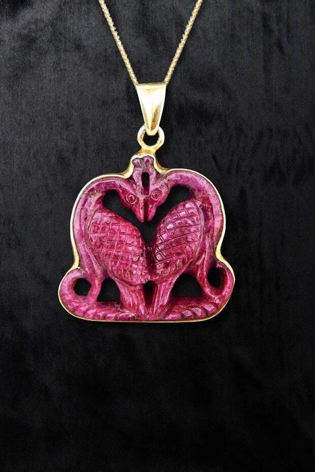 Charming Ruby Swan Pendant
