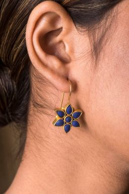 Cerulean Floral Earrings