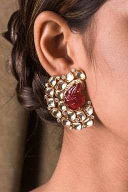 Ruby Oynx Earrings