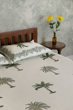 Cloris Tropical Palm Double Bedsheet