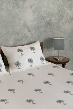 Freya Tropical Palm Double Bedsheet
