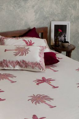 Delphine Tropical Palm Double Bedsheet