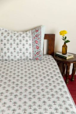 Tamira Palms Single Bedsheet with Pillow Cover