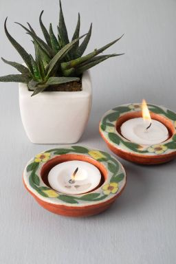 Floral Round Tealights (Set of 2)