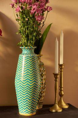 Summer Chevron Vase