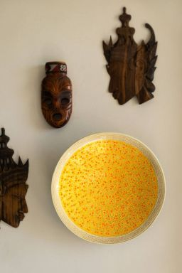 "Yellow Chinar Wall Plate (12"")"