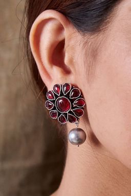 Ganika Wine Earrings
