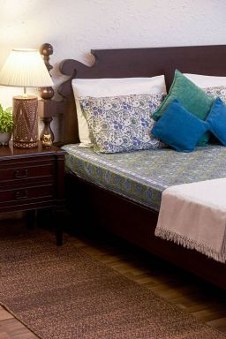 Susan Sea Green Bedsheet (With Pillow Covers)