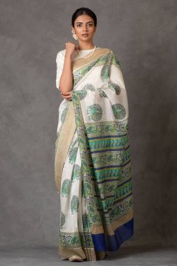 Peacock Chanderi Saree (with Blouse)