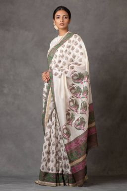 Panchhi Chanderi Saree (with Blouse)