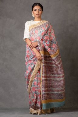 Gulaab Chanderi Saree (with Blouse)