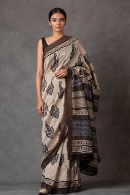Paisley Chanderi Saree (with Blouse)