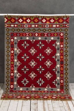 Scarlet Hand-Knotted Rug (6ft x 4ft)