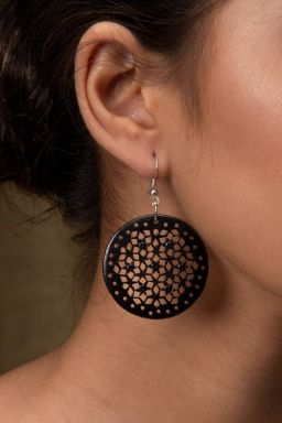 Jambula Hand-Carved Earrings