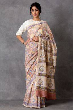 Saumanasa Chanderi Saree (with Blouse)