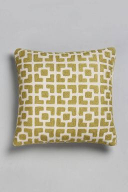 "Khidr Embroidered Cushion (16''x15"")"