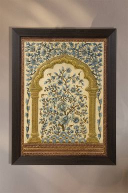 Perennial Vine Relief Work- Royal ( 25in x 19in )