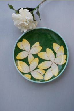 "Sunfire Waterlily Plate (8"")"