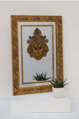 Durga Mask Mirror Painting ( 14in x 10in )