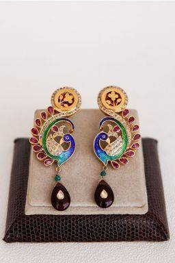 Cadence Peacock Earrings