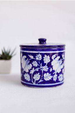 Indigo Cotton Jar