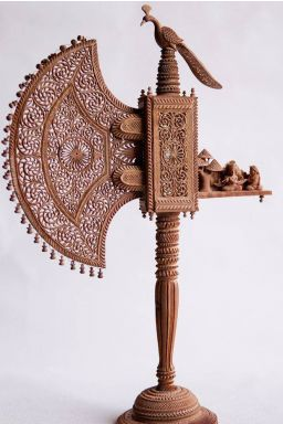Intricate Rajasthani Sandalwood Fan