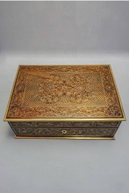 "Rajasthani Regal Wooden Box (12"" X 8"" X 4.5"")"