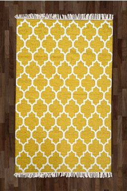 Imperial Mughal Rug - Yellow ( 5ft x 8ft )