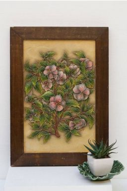 Sage Jewel Relief Work ( 14in x 10in )