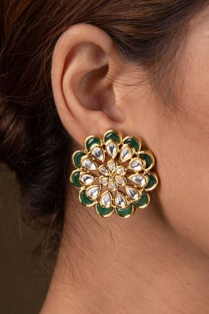 Gul Kundan Earrings