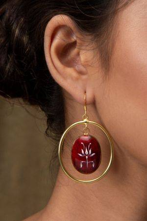 Savarija Carmine Earrings
