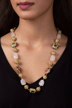 Odra Rose Quartz Necklace