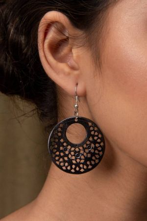 Malina Hand-Carved Earrings
