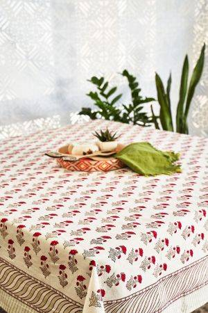 Red Dahlias Table Cover