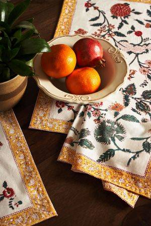Fiore Table Mats and Napkins (Set of 6)