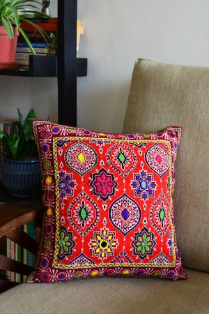 """Uthman Embroidered Cushion Cover ( 16"""" x 16"""")"""