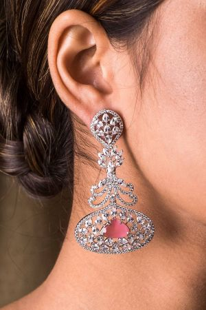 Fleur De Lis Rose Earrings
