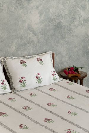 Cerelia Viridis Double Bedsheet with Pillow Covers