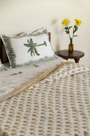 Amber Tropical Palm Duvet