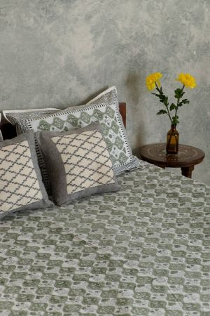 Aase Verdant Double Bedsheet with Pillow Covers