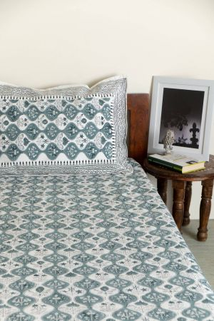 Fontanne Verdant Single Bedsheet with Pillow Cover